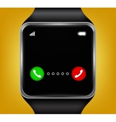 Smart watches accepting an incoming call vector image
