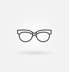 spectacles linear icon sunglasses line vector image