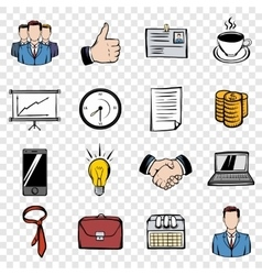 Business set icons vector image vector image