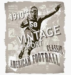 classic american football vector image