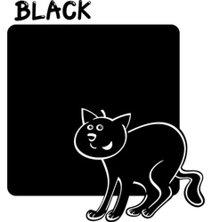 Color Black and Cat Cartoon vector image vector image