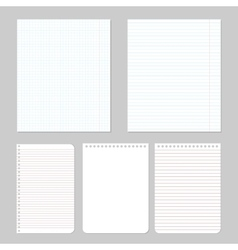 different notebook paper vector image
