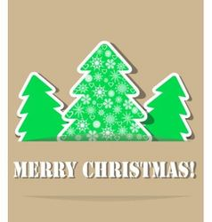 Geometric christmas trees with shade vector image vector image