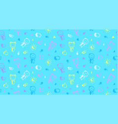 seamless pattern with kids vector image vector image
