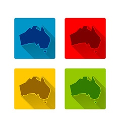 Australia icons vector image
