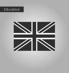 black and white style icon britain flag vector image