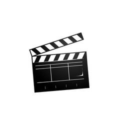 clapperboard icon vector image