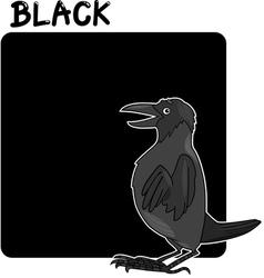 Color Black and Crow Cartoon vector image vector image