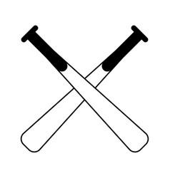 Crossed baseball bats sport or fitness related vector