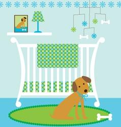dog nursery vector image vector image