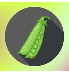 Green peas flat design icon vector image