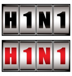 h1n1 dial vector image vector image