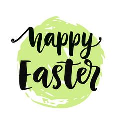 happy easter typography poster vector image