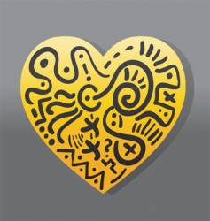 love symbol vector image