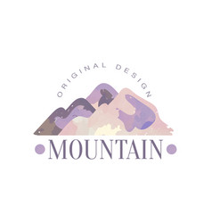 mountain original design logo template tourism vector image