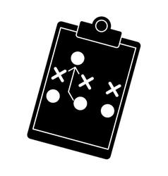 silhouette board tactical diagram american vector image vector image