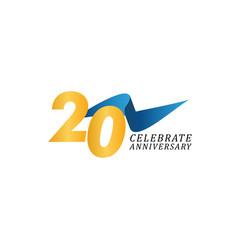20 years anniversary celebration elegant ribbon vector