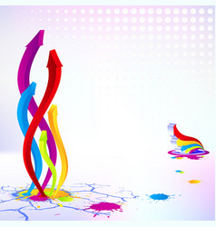 abstract arrow background element design business vector image