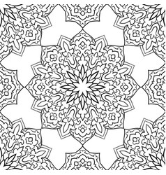 abstract pattern of mandalas vector image