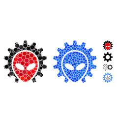 Alien technology composition icon circles vector