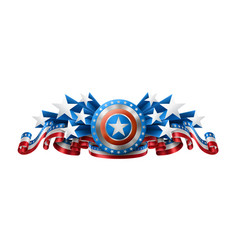 American background with shield vector
