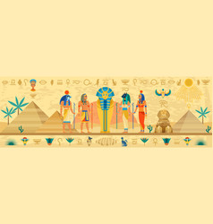 ancient egypt egyptian mythology storyline vector image