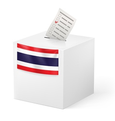 Ballot box with voicing paper Thailand vector