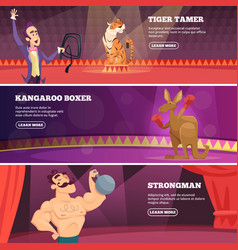 Banners of circus show of vector
