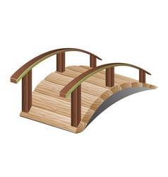 Beautiful wooden bridge vector