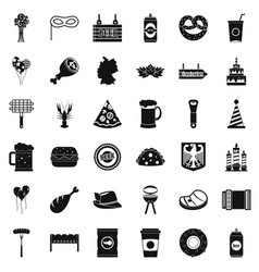 beer holiday icons set simple style vector image