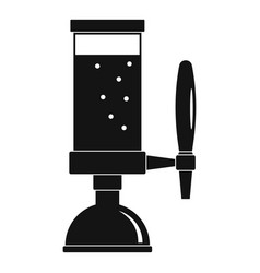 beer tap icon simple style vector image