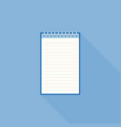 blank line notebook paper icon template vector image