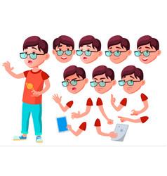 Boy child kid teen joy comic classmate vector