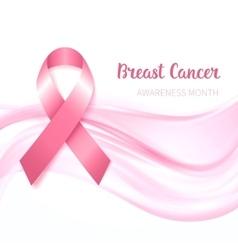 Breast Cancer Awareness Ribbon vector image