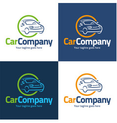 car company logo and icon vector image