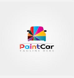 Car icon templatecar paintingcreative logo design vector