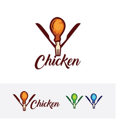 Chicken restaurant logo design vector