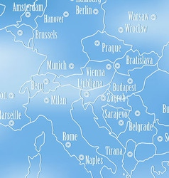 Creative map of Europe vector image
