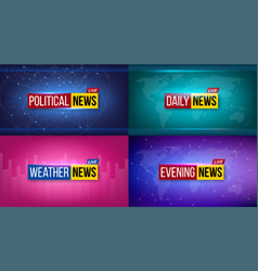 creative of breaking news vector image
