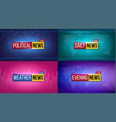 Creative of breaking news vector