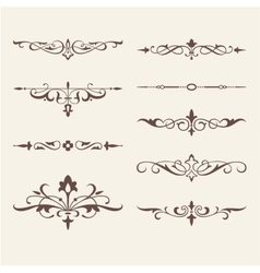 Curled calligraphic design elements for logo vector image