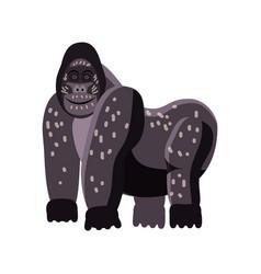 cute gorilla animal trend cartoon style vector image