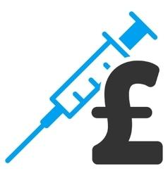 Drug Pound Business Flat Icon Symbol vector
