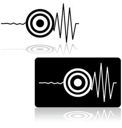 Earthquake icon vector