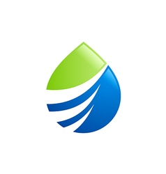 eco water drop abstract bio logo vector image