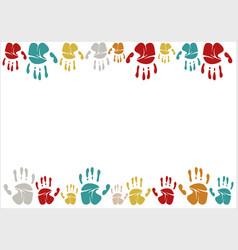 Family handprints family vector