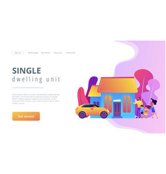 Family house concept landing page vector