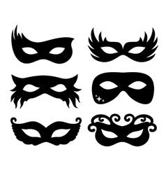 Festive masks silhouette vector