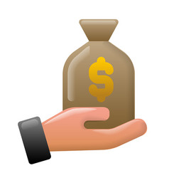 Finance earnings icon vector