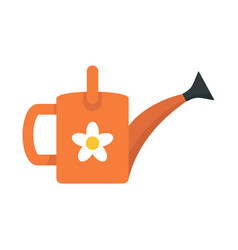 Flower watering can icon flat style vector